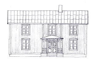 Framsidan i slutet av 1800-talet.