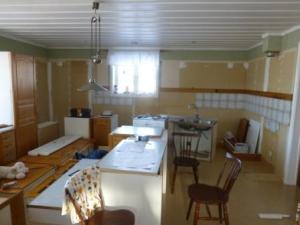 Köket under rivning av inredningen.