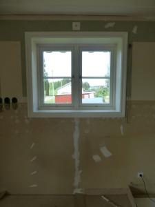 Fönstret invändigt före byte.