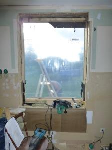Det ursprungliga fönsterhålet.