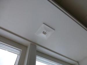 Uttag till fönsterlampor.