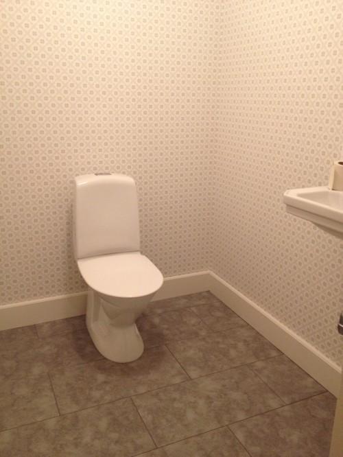 Den färdigrenoverade toaletten.